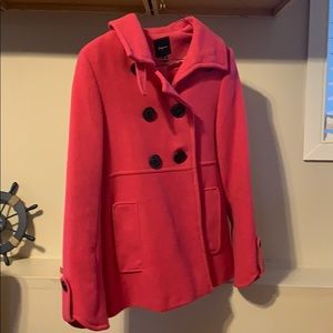 Hot pink express pea coat